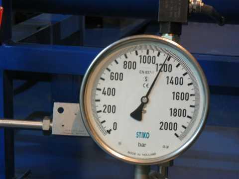 Manometr - stanowisko dobadań cyklicznych do1200 bar