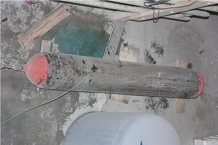Wnętrze komory klimatycznej wtrakcie badań zbiornika typu II-go
