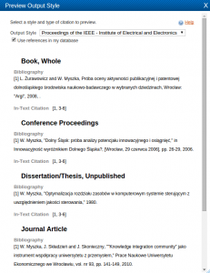 Bibliografia wstyle IEEE