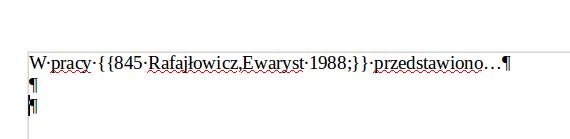 Tekst zcytowaniem wLibreOffice