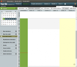 Widok kalendarza wHorde