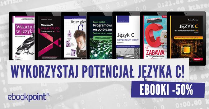 Wksięgarni ebokpoint.pl promocja naksiążki ojęzyku C