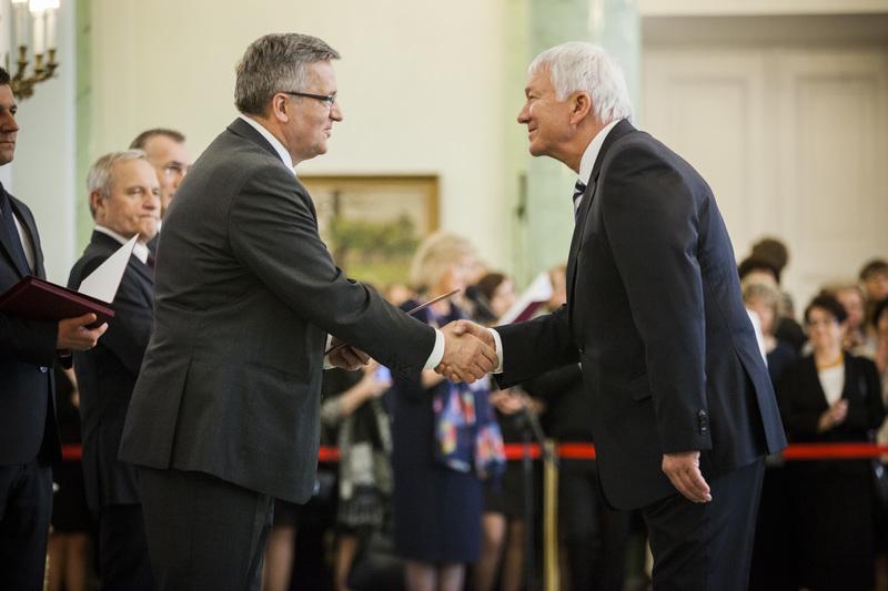 Prezydent Bronisław Komorowski i prof. Mieczysław Szata (foto: Łukasz Kamiński KPRP)