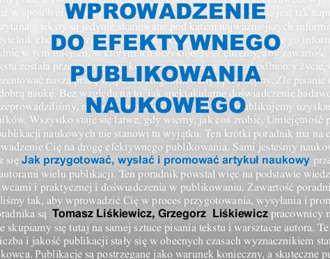 Poradnik efektywnego publikowania | Warsztat badacza – Emanuel Kulczycki