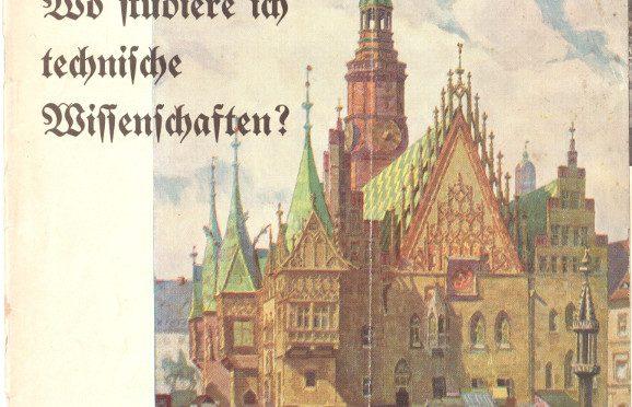 Folder reklamowy Technischen Hochschule Breslau