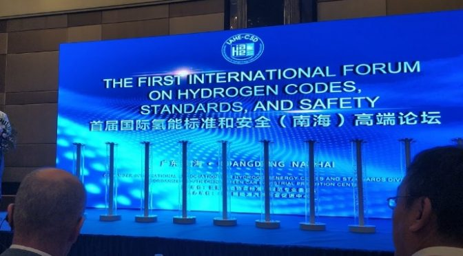 New member of the International Association for Hydrogen Energy Codes and Standards Division