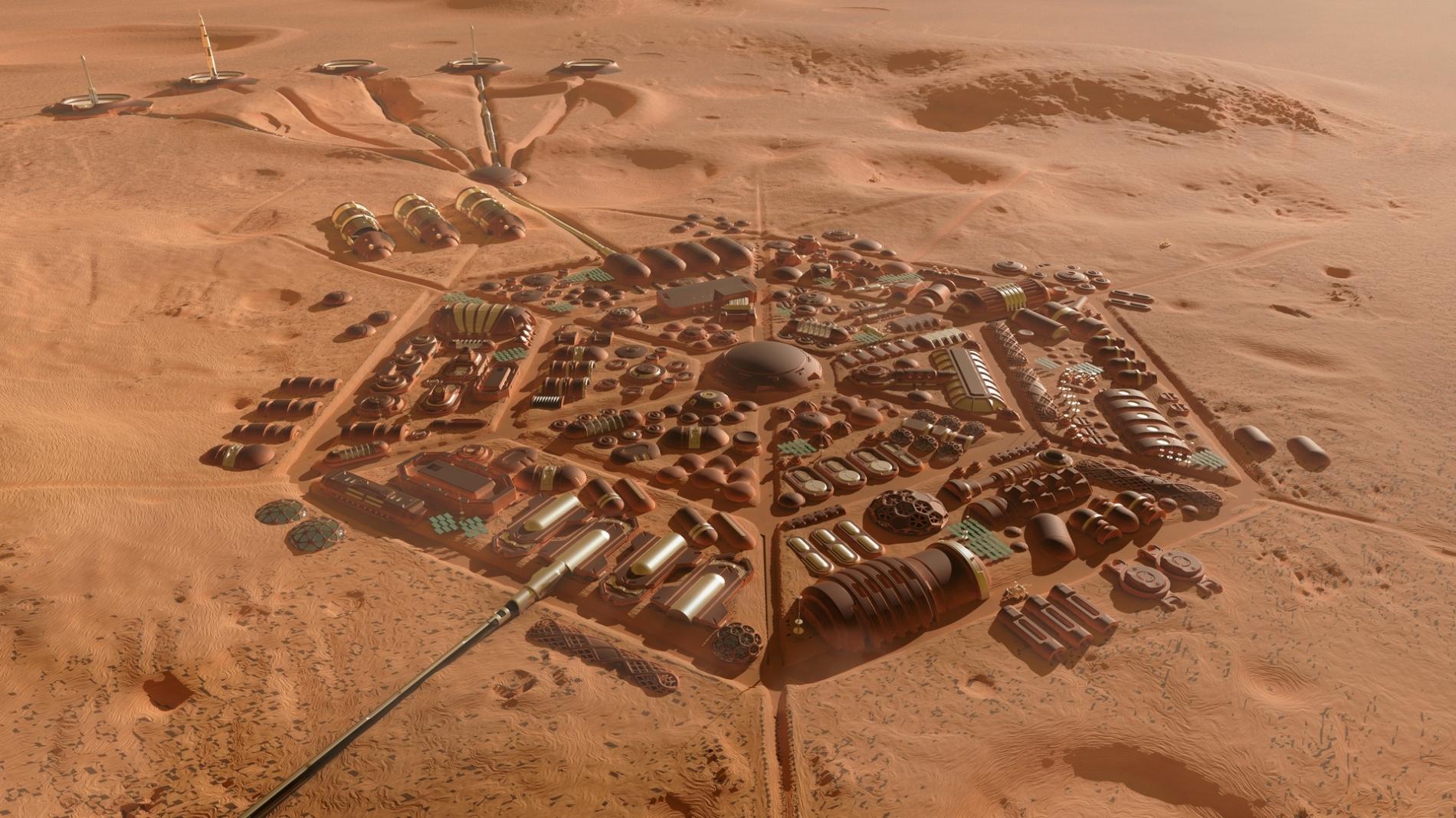 Wizualizacja marsjańskiej osady