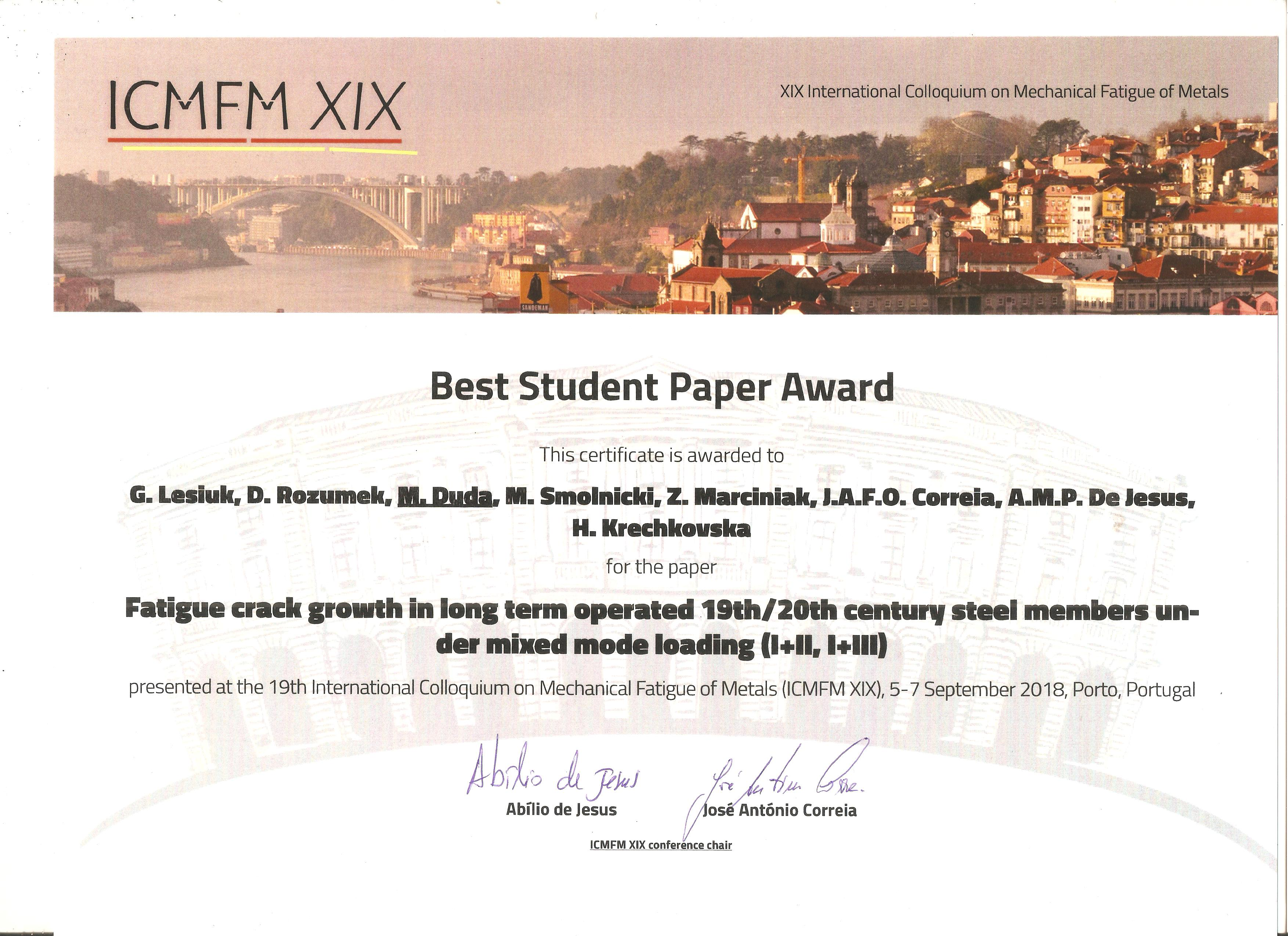 Dyplom Best Student Paper Award